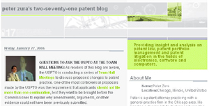 Peter Zura's Patent Blog